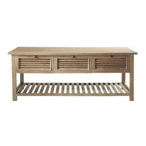 Maisons du monde - table basse persiennes - Table Basse Rectangulaire