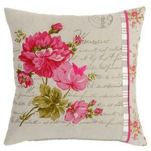Maisons du monde - housse de coussin floralie - Housse De Coussin