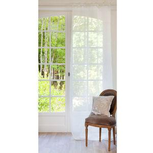 Maisons du monde - rideau lin écru - Rideaux À Lacettes