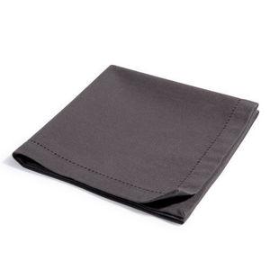 Maisons du monde - serviette unie anthracite - Serviette De Table