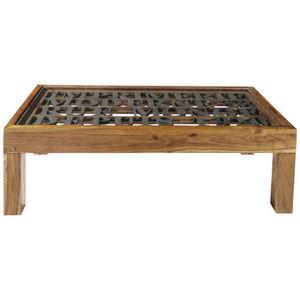 MAISONS DU MONDE - table basse imprimerie - Table Basse Rectangulaire