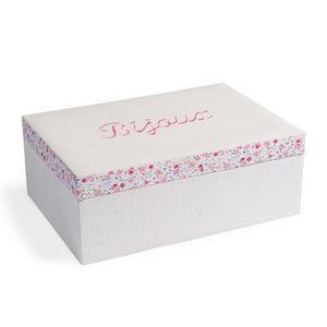 Maisons du monde - boîte à bijoux ruban flowers - Coffret À Bijoux