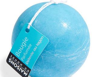 Maisons du monde - bougie boule bleue - Bougie Ronde
