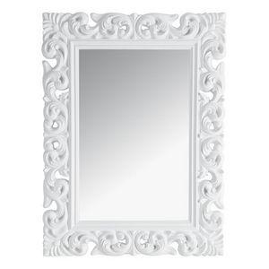 Maisons du monde - miroir rivoli blanc 90x120 - Miroir