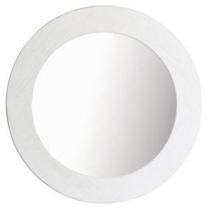 Maisons du monde - miroir natura blanc rond - Miroir