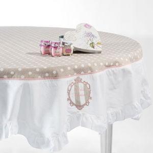 Maisons du monde - nappe froufrou ronde - Nappe Ronde
