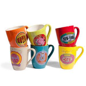 Maisons du monde - assortiment de 6 mugs voyage - Mug