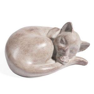 Maisons du monde - matou en boule gris - Sculpture Animalière