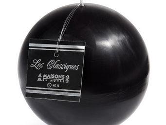 Maisons du monde - bougie boule noire - Bougie Ronde