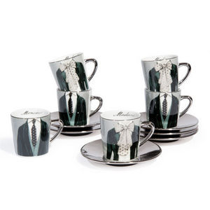 Maisons du monde - coffret 6 tasses et soucoupes mr&mrs - Tasse � Caf�