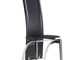CLEAR SEAT - chaises modernes iris noir lot de 6 - Chaise