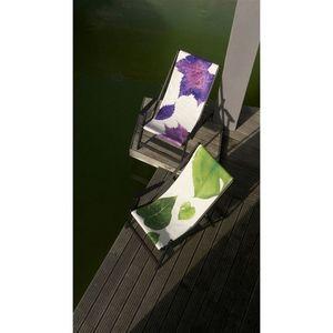 TROIS MAISON - toille de transat - feuille verte - Chaise