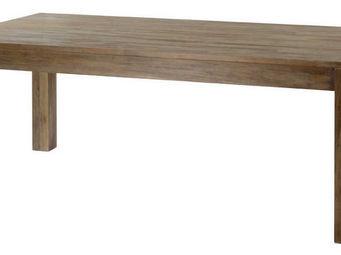 ZAGO - table repas extensible en teck teinte - Table De Repas Rectangulaire