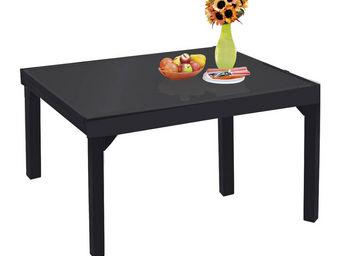 WILSA GARDEN - table de jardin modulo noir 6 à 10 personnes en al - Table De Jardin
