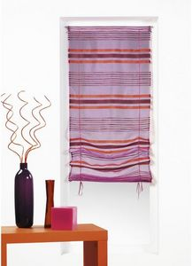 HOMEMAISON.COM - store en organza tiss� rayures horizontales - Voilage
