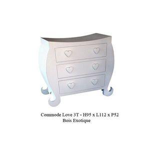 DECO PRIVE - commode en bois blanc pour chambre d enfant modele - Commode