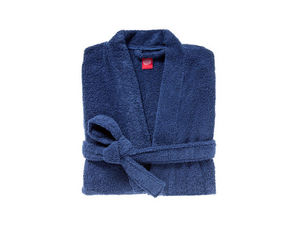 BLANC CERISE - peignoir col kimono - coton peigné 450 g/m² indigo - Peignoir De Bain