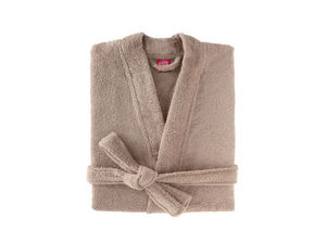 BLANC CERISE - peignoir col kimono - coton peigné 450 g/m² sable - Peignoir De Bain