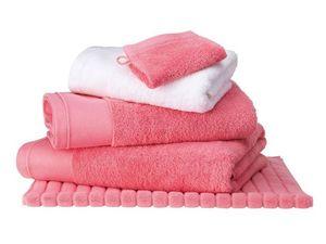 BLANC CERISE - serviette de toilette corail - coton peigné 600 g - Serviette De Toilette