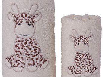 SIRETEX - SENSEI - drap de douche enfant 70x140cm lili la girafe - Drap De Bain Enfant