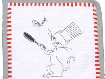 SIRETEX - SENSEI - manique imprimé chat chef cuisinier - Manique