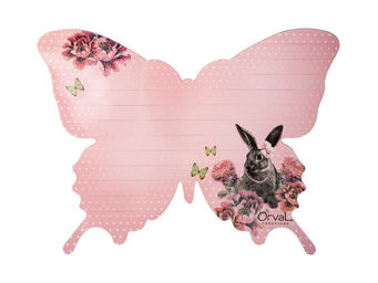 Orval Creations - m�mo magn�tique papillon contes du temps pass� - Magnet �lectrom�nager