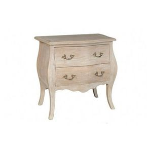 DECO PRIVE - commode en bois ceruse modele bombay 2 tiroirs - Commode