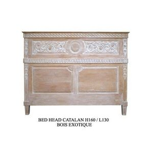 DECO PRIVE - tete de lit catalane 160 cm en bois ceruse - en st - Tête De Lit