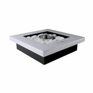 WHITE LABEL - chemine bio thanol carr poser blanc et noir nuxe - Cheminée Sans Conduit D'évacuation