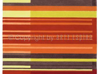 Arte Espina - tapis de salon colour codes rouge 170x240 en acryl - Tapis Contemporain