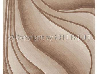 Arte Espina - tapis de salon in motion beige 170x240 en acryliqu - Tapis Contemporain