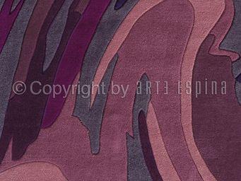 Arte Espina - tapis de salon action painting violet 140x200 en a - Tapis Contemporain