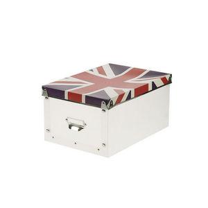WHITE LABEL - boîte pliable tendance motif union jack - Boite De Rangement