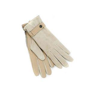 WHITE LABEL - gant camel peau retournée dessous en cuir de porc  - Gants