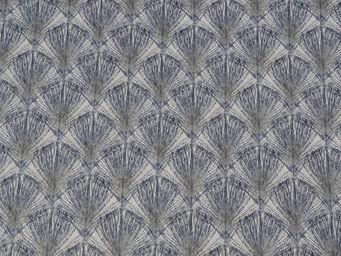 FLEUR DE SOLEIL - tissu plume bleu 160x160 - Tissu D'ameublement