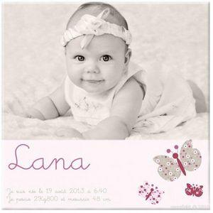 BABY SPHERE - toile photo naissance petites ailes - Cadre Photo Enfant