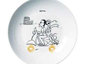 La Chaise Longue - coffret de 6 assiettes pasta - Assiette Plate