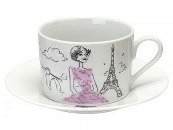 La Chaise Longue - coffret de 2 tasses à thé les parisiennes - Tasse À Café