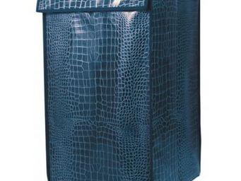 Cm - panier àlinge croco - couleur - bleu - Panier À Linge