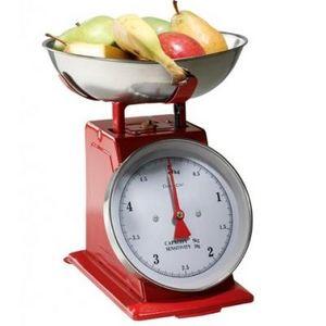 Delta - balance de cuisine métal rouge - Balance De Cuisine Électronique