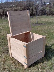 ADSEA NIEVRE - composteur 350 litres en pin traité 75x72x82cm - Bac À Compost