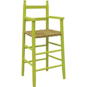 Aubry-Gaspard - chaise haute pour enfant en h�tre anis - Chaise Haute Enfant