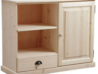 BARCLER - meuble tv en bois brut 107x40x83cm - Meuble Tv Hi Fi