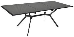 PROLOISIRS - table rectangulaire malaga aluminium et verre - Table De Jardin