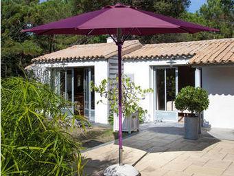 PROLOISIRS - parasol automatique spring 3m toile et mât cassis - Parasol