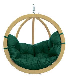 Amazonas - chaise globo à suspendre avec coussin vert - couss - Balancelle