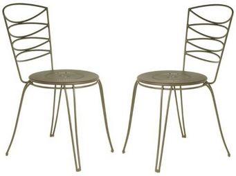 PROLOISIRS - chaise amande en acier cataphor�se rouille (lot de - Chaise De Jardin