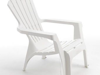 WILSA GARDEN - fauteuil adirondack blanc en résine polypropylène  - Fauteuil De Jardin