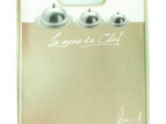 Cm - planche �d�couper message - couleur - beige, form - Planche � D�couper