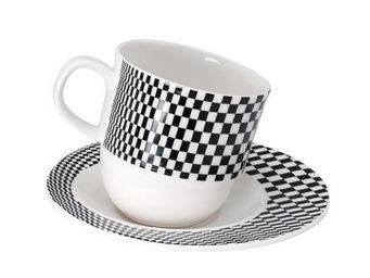 La Chaise Longue - tasse et sous-tasse tilt noir - Tasse À Café